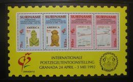 Poštovní známky Surinam 1992 Výstava GRANADA Mi# Block 57