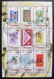 Poštovní známky Malawi 2012 Historie olympijské filatelie