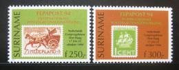 Poštovní známky Surinam 1994 Výstava FEDAPOST Mi# 1493-94