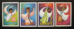 Poštovní známky Surinam 1993 Vánoèní andìlé Mi# 1457-60