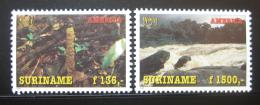 Poštovní známky Surinam 1995 Ochrana pøírody Mi# 1527-28