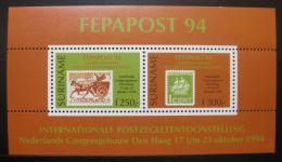 Poštovní známky Surinam 1994 Výstava FEDAPOST Mi# Bl 63