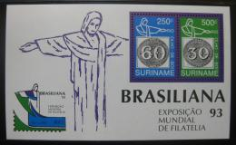Poštovní známky Surinam 1993 Výstava BRASILIANA Mi# Block 60