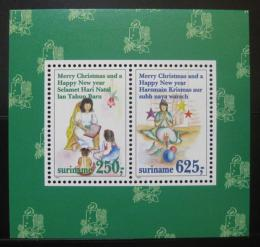 Poštovní známky Surinam 1994 Vánoce Mi# Block 64