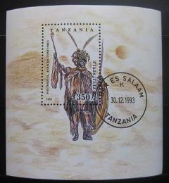 Poštovní známka Tanzánie 1993 Kostým kmene Zulu Mi# Block 236