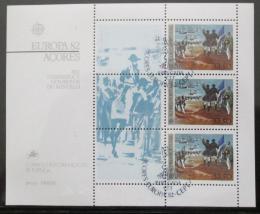 Poštovní známky Azory 1982 Evropa CEPT Mi# Block 3
