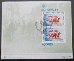 Poštovní známky Azory 1981 Evropa CEPT Mi# Block 2