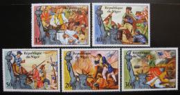 Poštovní známky Niger 1976 Americká revoluce Mi# 514-18