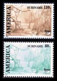 Poštovní známky Surinam 1990 Amerika Mi# 1347-48
