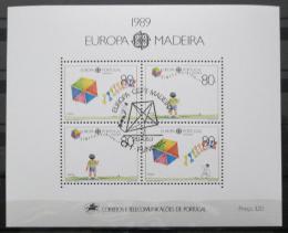 Poštovní známky Madeira 1989 Evropa CEPT Mi# Block 10