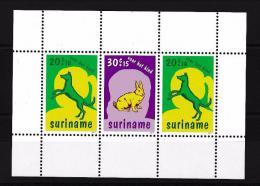 Poštovní známky Surinam 1977 Domácí zvíøata Mi# Block 20