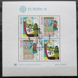 Poštovní známky Portugalsko 1981 Evropa CEPT Mi# Bl 32