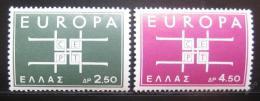 Poštovní známky Øecko 1963 Evropa CEPT Mi# 821-22