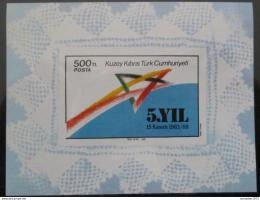 Poštovní známka Kypr Tur. 1988 Výroèí vzniku Mi# Block 7