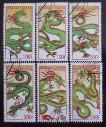 Poštovní známky Togo 2000 Rok draka Mi# 2984-89