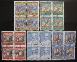 Poštovní známky Švýcarsko 1967 Umìní ètyøbloky Mi# 853-57