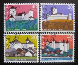 Poštovní známky Švýcarsko 1976 Hrady Mi# 1075-78