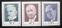 Poštovní známky Lichtenštejnsko 1972 Osobnosti Mi# 570-72