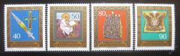 Poštovní známky Lichtenštejnsko 1977 Poklady Mi# 673-76