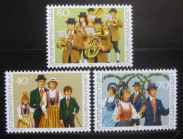 Poštovní známky Lichtenštejnsko 1980 Kostýmy Mi# 754-56