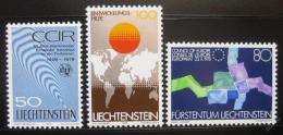 Poštovní známky Lichtenštejnsko 1979 Události Mi# 728-30