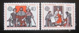 Poštovní známky Lichtenštejnsko 1982 Evropa CEPT Mi# 791-92