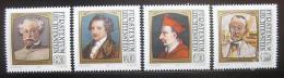 Poštovní známky Lichtenštejnsko 1981 Slavní hosté Mi# 784-87