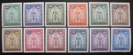 Poštovní známky Lichtenštejnsko 1976 Vládní budova Mi# 57-68