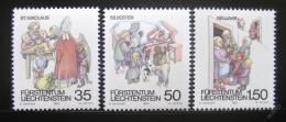 Poštovní známky Lichtenštejnsko 1990 Vánoèní zvyky Mi# 1008-10