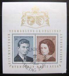 Poštovní známky Lichtenštejnsko 1967 Knížecí pár Mi# Block 7
