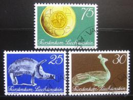 Poštovní známky Lichtenštejnsko 1971 Národní muzeum Mi# 536-38