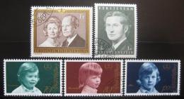 Poštovní známky Lichtenštejnsko 1974-5 Knížecí rodina Mi# 614-15,620-22 Kat 13€