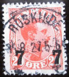 Poštovní známka Dánsko 1927 Král Christian X. pøetisk Mi# 174