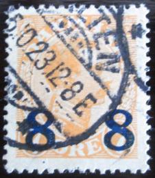 Poštovní známka Dánsko 1922 Král Christian X. pøetisk Mi# 130