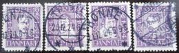 Poštovní známky Dánsko 1924 Králové Mi# 135-38