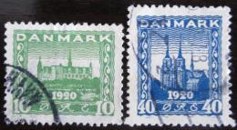 Poštovní známky Dánsko 1921 Architektura Mi# 114-15