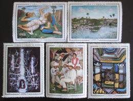 Poštovní známky Kuba 1967 Umìní Mi# 1272-76