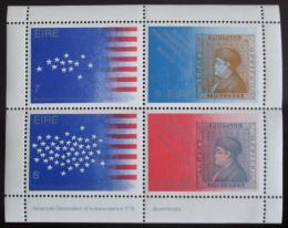 Poštovní známka Irsko 1976 Americká revoluce Mi# Block 2