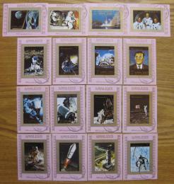 Poštovní známky Adžmán 1973 Prùzkum vesmíru neperf. Mi# 2637-52 B DELUXE