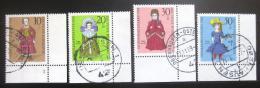 Poštovní známky Nìmecko 1968 Loutky Mi# 571-74