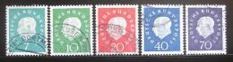 Poštovní známky Nìmecko 1959 Prezident Heuss Mi# 302-06