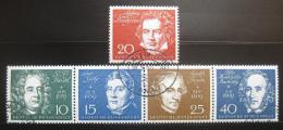 Poštovní známky Nìmecko 1959 Skladatelé Mi# 315-19 Kat 37.50€
