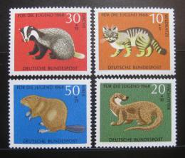 Poštovní známky Nìmecko 1968 Zvíøata Mi# 549-52