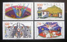 Poštovní známky Nìmecko 1989 Cirkus Mi# 1411-14 Kat 13€