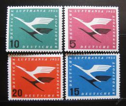 Poštovní známky Nìmecko 1955 Lufthansa Mi# 205-08 Kat 30€