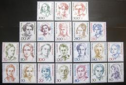 Poštovní známky Nìmecko 1986-91 Slavné ženy SC# 1475-94A Kat 53€