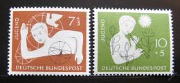 Poštovní známky Nìmecko 1956 Organizace hostelù Mi# 232-33