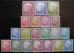 Poštovní známky Nìmecko 1954-60 Prezident Heuss Mi# 177-96 Kat 280€