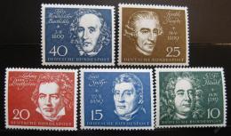 Poštovní známky Nìmecko 1959 Skladatelé Mi# 315-19 Kat 20€