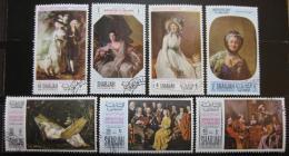 Poštovní známky Šardžá 1968 Den matek Mi# 426-31,433